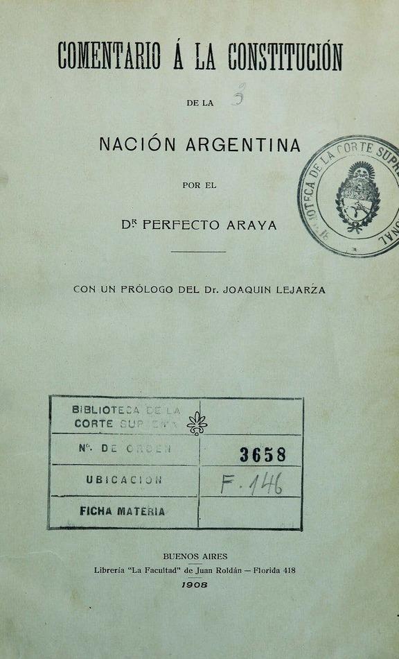 Comentario a la Constitución de la Nación Argentina