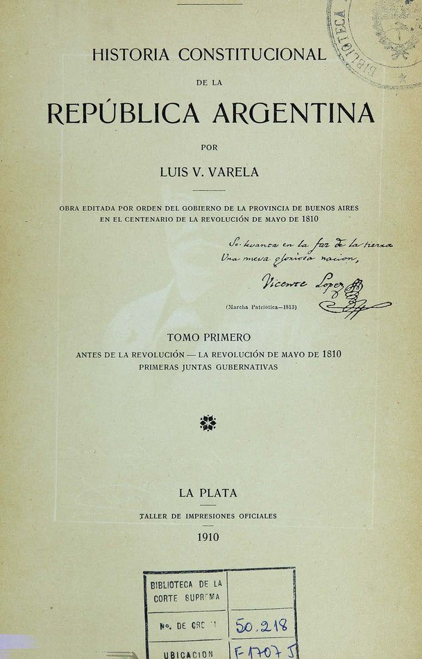 Historia constitucional de la República Argentina