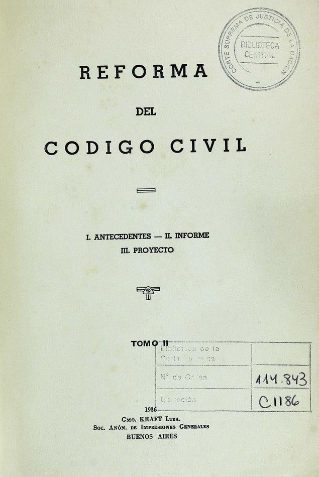 Reforma del Código Civil