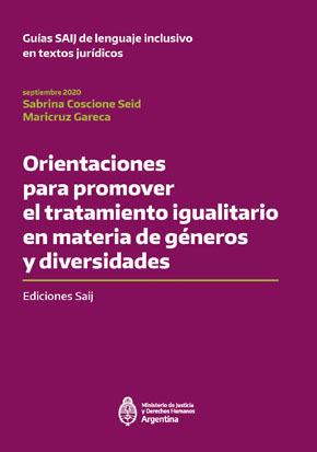 Orientaciones para promover el tratamiento igualitario en materia de géneros y diversidades