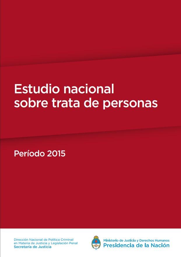 Estudio nacional sobre trata de personas